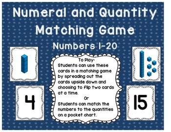 Number and Quantity Matching Game