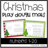 Christmas  Math Activities - Christmas Play Dough Mats - Counting 1-20