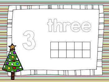 Christmas  Math Activities - Christmas Play Dough Mats - Counting 1-20