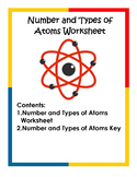 Number and Types of Atoms Worksheet