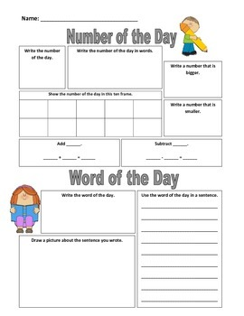 Number and Word of the Day