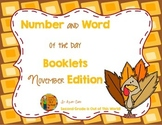 November Number Sense and Vocabulary Builders Morning Work