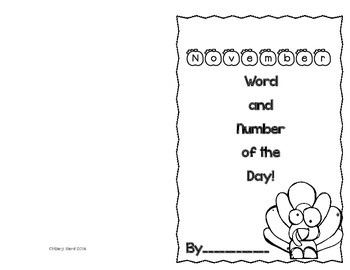 November Number Sense and Vocabulary Builders Morning Work