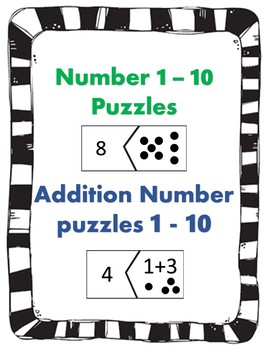 Number and addition puzzles #1 - 10