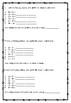 Number and algebra assessment