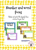Number and word focus