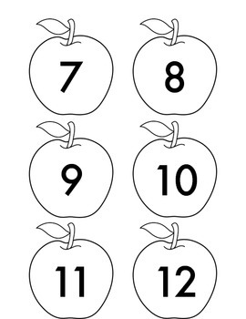 Number apples for 10 Apples Up on Top activity