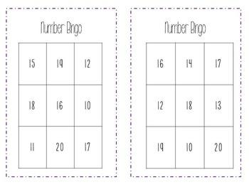 Number Sense Fluency 10-20