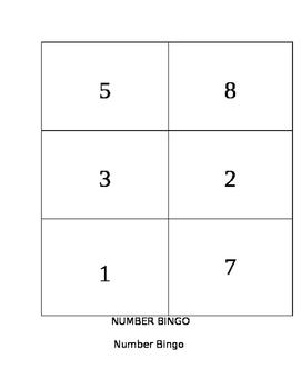 Number bingo Packet