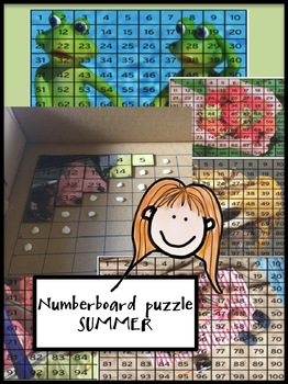 Number board puzzle - summer