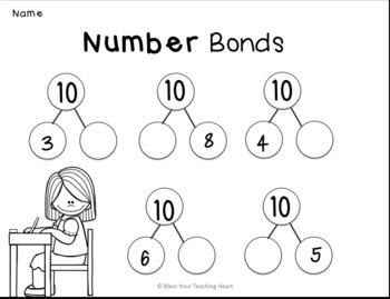 Number bond bundle EDITABLE