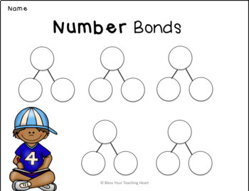 Number bond bundle EDITABLE