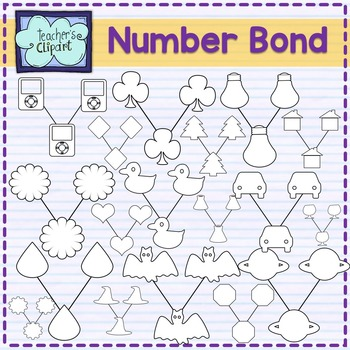 100 Number bond clipart - Color code