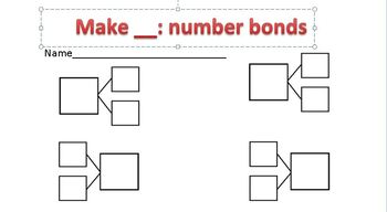 Number bond freebie worksheet! Use for centers