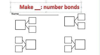Number bond freebie worksheet! Use for centers