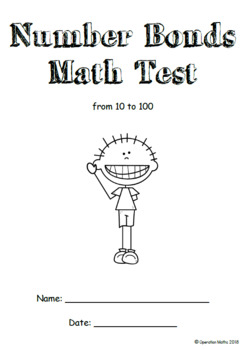 Number Bond Tests & BONUS Math Test