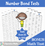 Number Bond Tests & BONUS Math Test