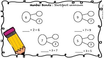 Number bonds - no prep worksheets