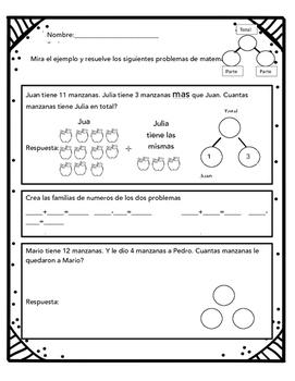 Number bonds/ Familia de numeros