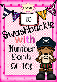 Number bonds of 10 Pirate themed top trump style game