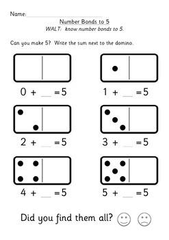 Number bonds / stories to 5