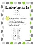 Number bonds to 10 activity