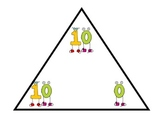Number bonds to 10 triangles