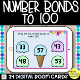 Number bonds to 100 Boom Cards