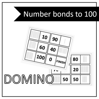 Number bonds to 100 DOMINO