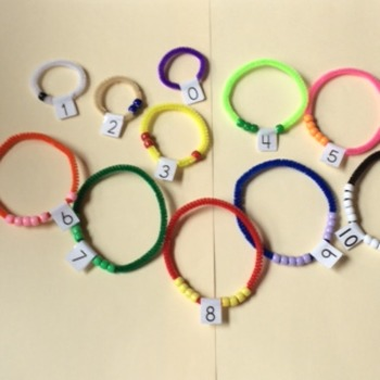 Number bracelets (NO PREP NEEDED) 1 student set 0-10