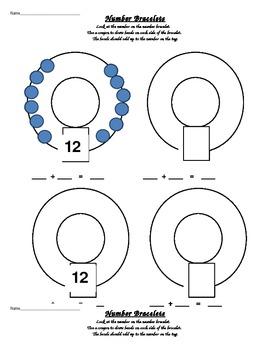 Number bracelets worksheets