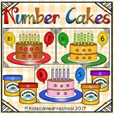 Number cakes Play dough Workstation