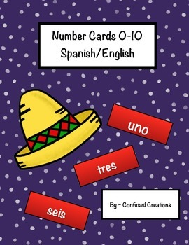 Number cards 0-10 English/Spanish