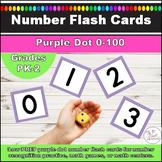 Number Flash Cards 0-100 l Purple Polka Dot