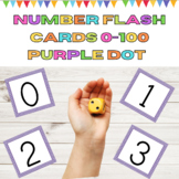 Number Flashcards 0-100 Purple Dot