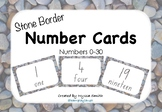 Number Cards 0-30 Natural Stone Border