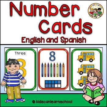Number cards-1-10-Bilingual