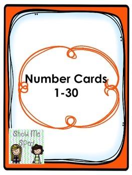 Number cards 1-30