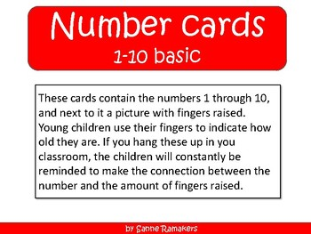 Number cards 1 through 10