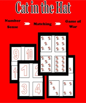 Cat in the Hat - Number Recognition - Memory