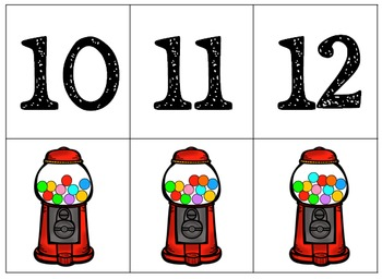 Number cards Gumball Machine