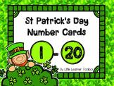 St. Patrick's Day Shamrock Number Cards