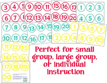 Number cards for activities and centers