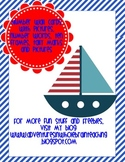 Nautical Theme Number cards for wall