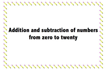 Number cards zero-twenty