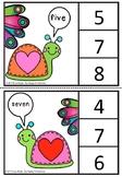 Number center clip cards