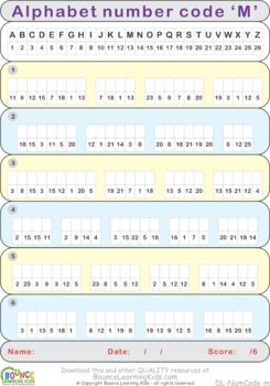 Number code (29 Literacy sheets)