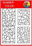 Number color clip art(1-9)