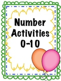 Number concepts 0-10    29 activities, 67 pages!