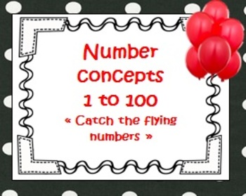 "Number concepts 1 to 100   ""Catch the flying numbers"" work"